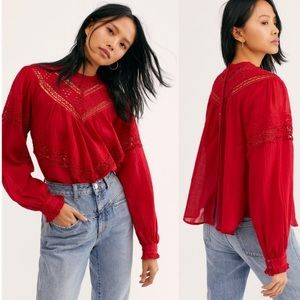 NWT Free People Abigail Victorian Top size XS